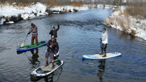Paddleboarding in spring offers a whole new challenge