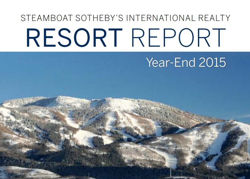 Steamboat Sotheby's International Realty Resort Report Year-End 2015 - http://www.steamboatsir.com/blog/2016/03/14/2015-resort-comparison-report/